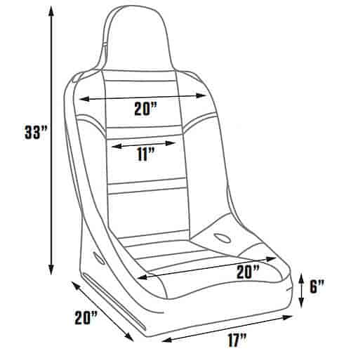 Jegs 702120 Off Road Seat Black Vinyl
