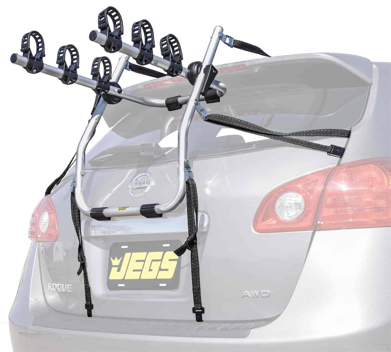 Trunk Mount Bike Rack >> Jegs 71014 Trunk Mounted Bike Rack For 3 Bikes Jegs