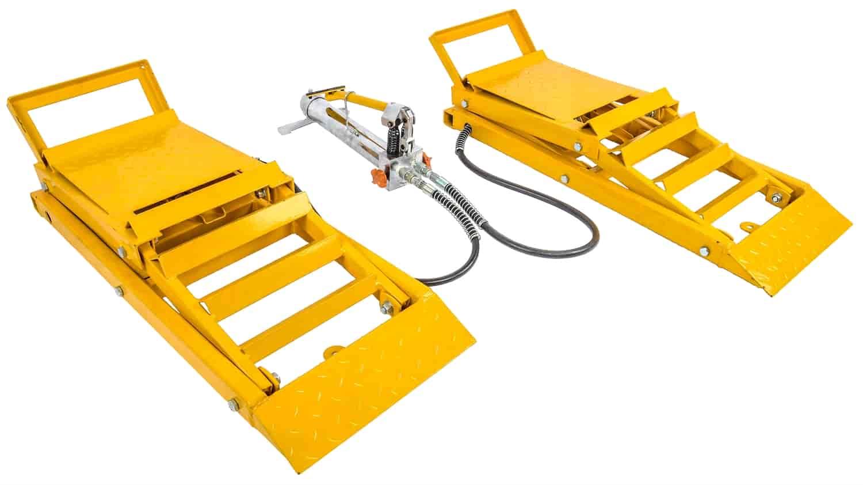 Hydraulic Lift Ramps : Jegs hydraulic car lift ramps lb capacity