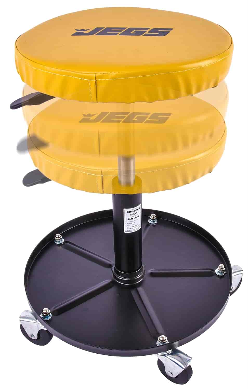 JEGS Performance Products 80057 - JEGS Adjustable-Height Mechanics Seat