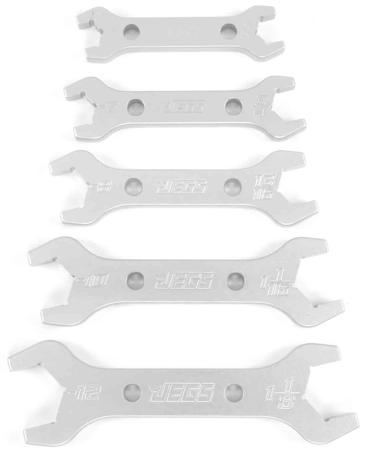 JEGS Performance Products 80658 - JEGS Combination AN - NPT Aluminum Wrenches