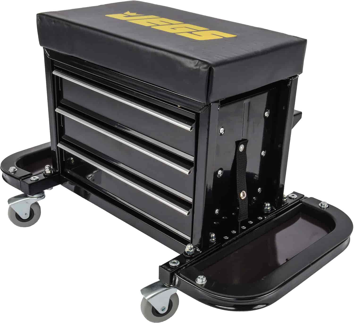 JEGS 3 Drawer Mechanics Roller Seat Toolbox. JEGS 81155