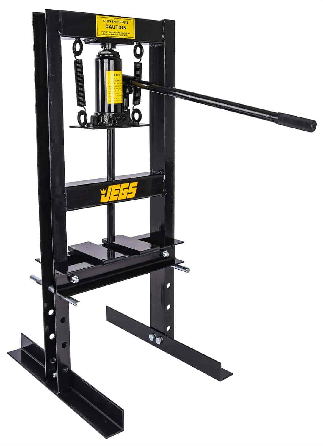 1 1//2 to 1 JEGS 81636 Hydraulic Shop Press 10-Ton Bench Top Mount Working Range