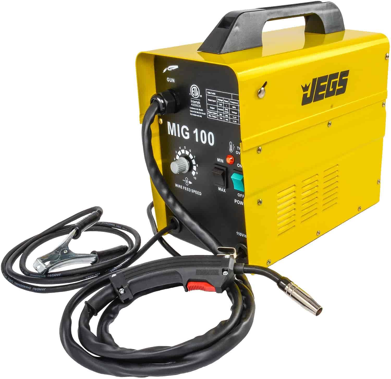 Mig Weld Welding Welder Welds Parts Flux Cored With Jegs 100 Gasless 110v Ac 81540