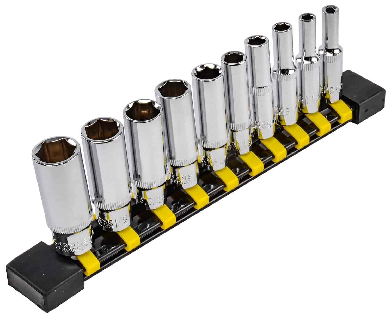 JEGS 85023 Swivel Impact Socket Set 3//8 in Drive Metric