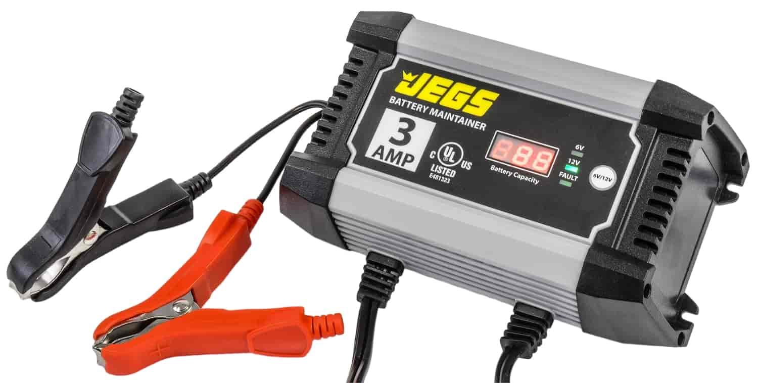 JEGS Smart Trickle Charger & Battery Maintainer 3 Amp