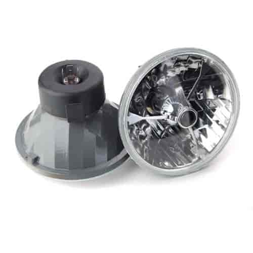 JEGS Performance Products 90100 - JEGS Tri-Bar Round Headlights