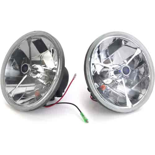 JEGS Performance Products 90117 - JEGS Tri-Bar Round Headlights