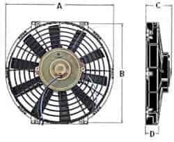 555 FanDims straight jegs performance products 52112k universal electric fan with VW Wiring Harness Kits at n-0.co