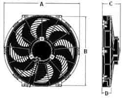 555 FanDims jegs s blade universal electric fans jegs  at webbmarketing.co