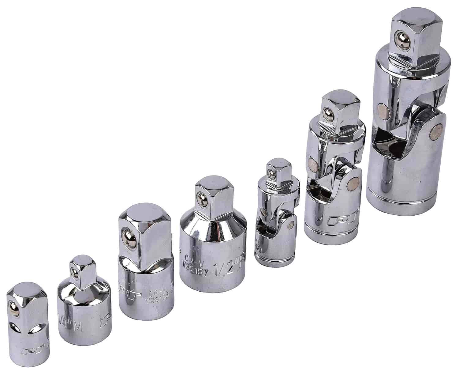 7pc Performance Products Socket Adapter /& U-Joint Set New