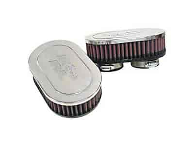 K&N RC-2282 - K&N Dual Flange Oval Straight Universal Air Filters