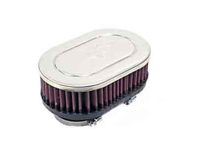 K&N RC-2360 - K&N Dual Flange Oval Straight Universal Air Filters