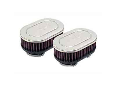 K&N RC-2362 - K&N Dual Flange Oval Straight Universal Air Filters