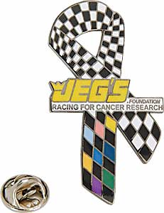 JEGS RIBBON-NL - JEGS Foundation Racing for Cancer Research Ribbon Decal, Magnet, Pin, and Patches