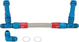 JEGS Performance Products 100825 - JEGS Premium Dual Feed AN Fuel Line Kits