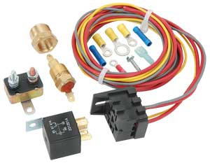 Jegs 10561 single fan wiring harness relay kit 30 amp jegs asfbconference2016 Choice Image