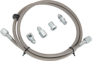 JEGS Performance Products 41058 - JEGS Braided Stainless Steel Mechanical Gauge Hose Kits