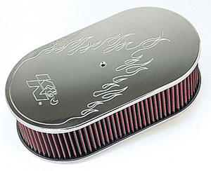 K&N 66-1460 - K&N Custom 66 Series Oval Air Cleaners