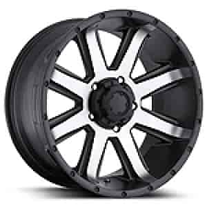 Ultra Wheel 195-6883U+00 - Ultra 195 Series Crusher RWD Semi-Gloss Black w/ Diamond Cut Face Wheels