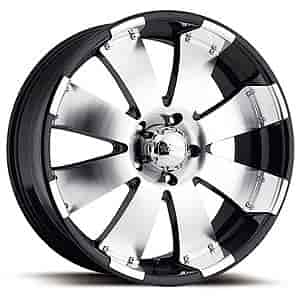 Ultra Wheel 243-7886B - Ultra 243/244 Series Black Mako RWD Wheels
