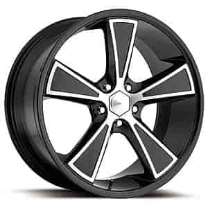Ultra Wheel 431-2166B+45 - Ultra 431 Hustler Gloss Black Diamond Cut RWD Wheels