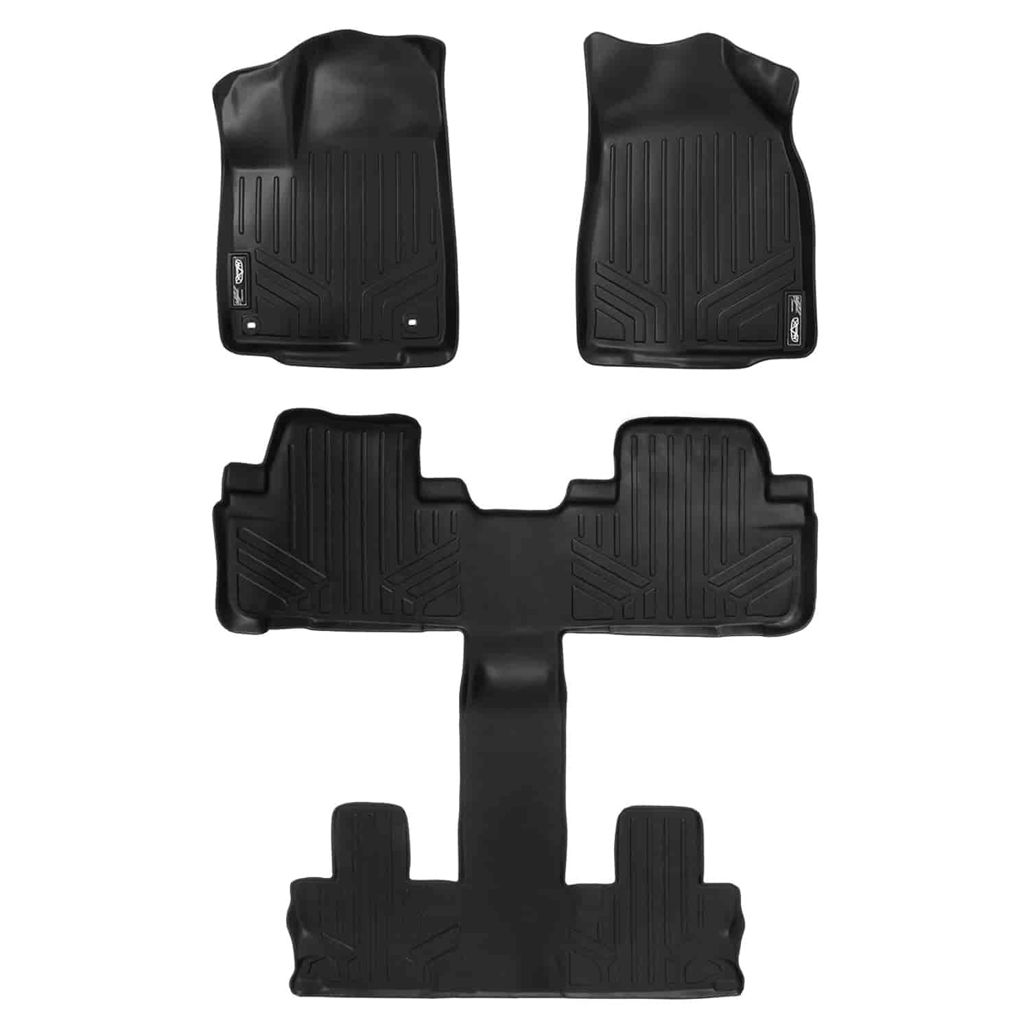 MAXLINER A0017//B0028 Floor Mats for Ford F-150 Super Crew Cab Black 2009-2010 Complete Set