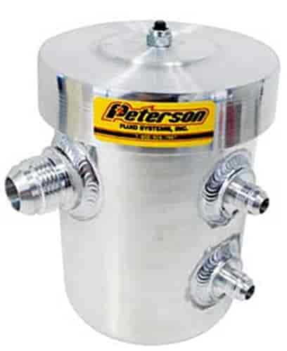 Peterson Fluid Systems 08-0400-ATS - Peterson Spun Aluminum Oil Breather Tanks