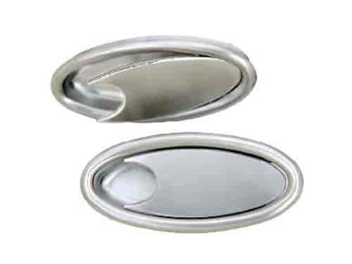 Lokar IDH-2000: Oval Billet Interior Door Handles Brushed Aluminum ...