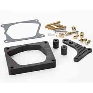 Lokar XTCB-40EDC - Lokar Billet Aluminum Throttle/Kickdown Bracket & Spacer Kit for Edelbrock Pro-Flo EFI