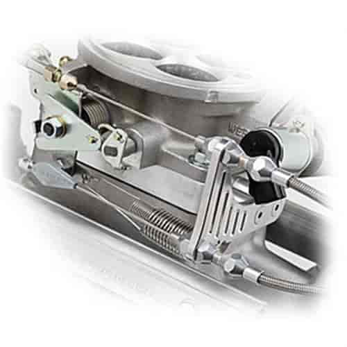 Lokar TCB-40EDK - Lokar Billet Aluminum Throttle/Kickdown Bracket & Spacer Kit for Edelbrock Pro-Flo EFI