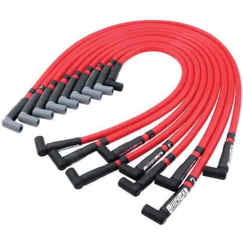 635-40-100 Racing Plug Wires on under header spark, zip tie spark, old spark, ls3 spark, taylor 8mm,