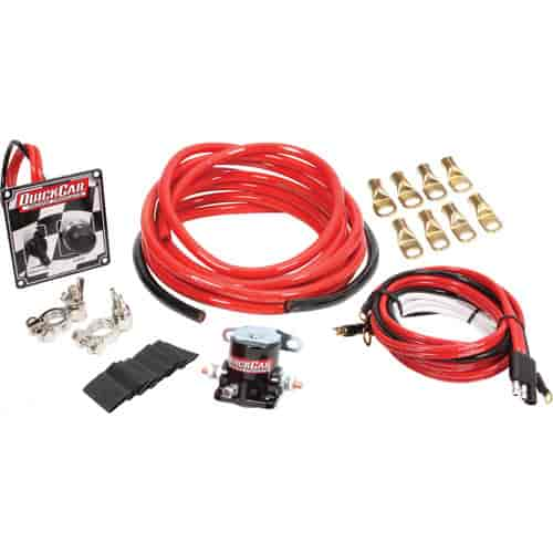 QuickCar Racing 4 AWG Wiring Kit Checkered Flag on