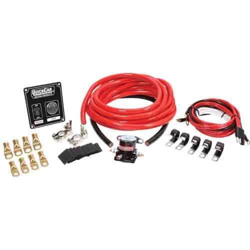 QuickCar Racing 4 AWG Wiring Kit Black on