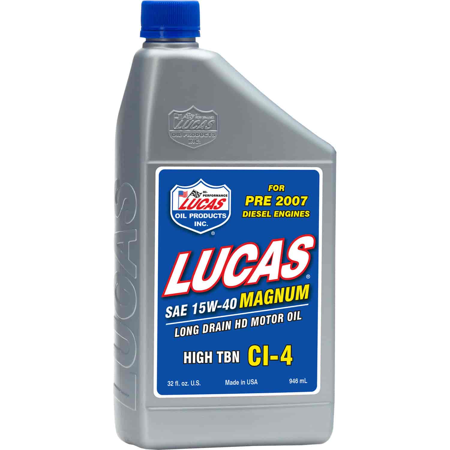 Lucas Oil 10075 - Lucas Oil 15W-40 Magnum High TBN CI-4 Oil