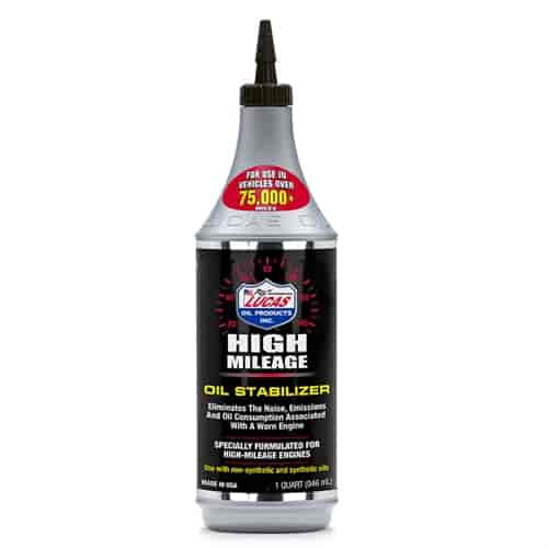 Lucas Oil 10118 High Mileage Oil Stabilizer 1 Quart Jegs