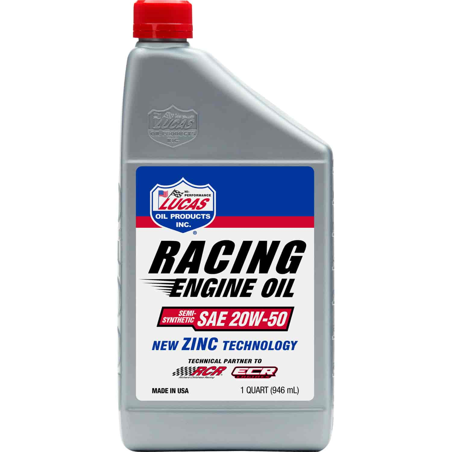 Lucas Oil 10306 20w 50 Semi Synthetic Race Oil 1 Quart Jegs
