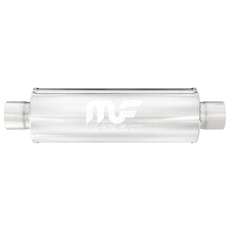 "Magnaflow 10425 Hi-Flo Performance Muffler 4/"" Round 18/"" Body 2.25/"" Center//Center"