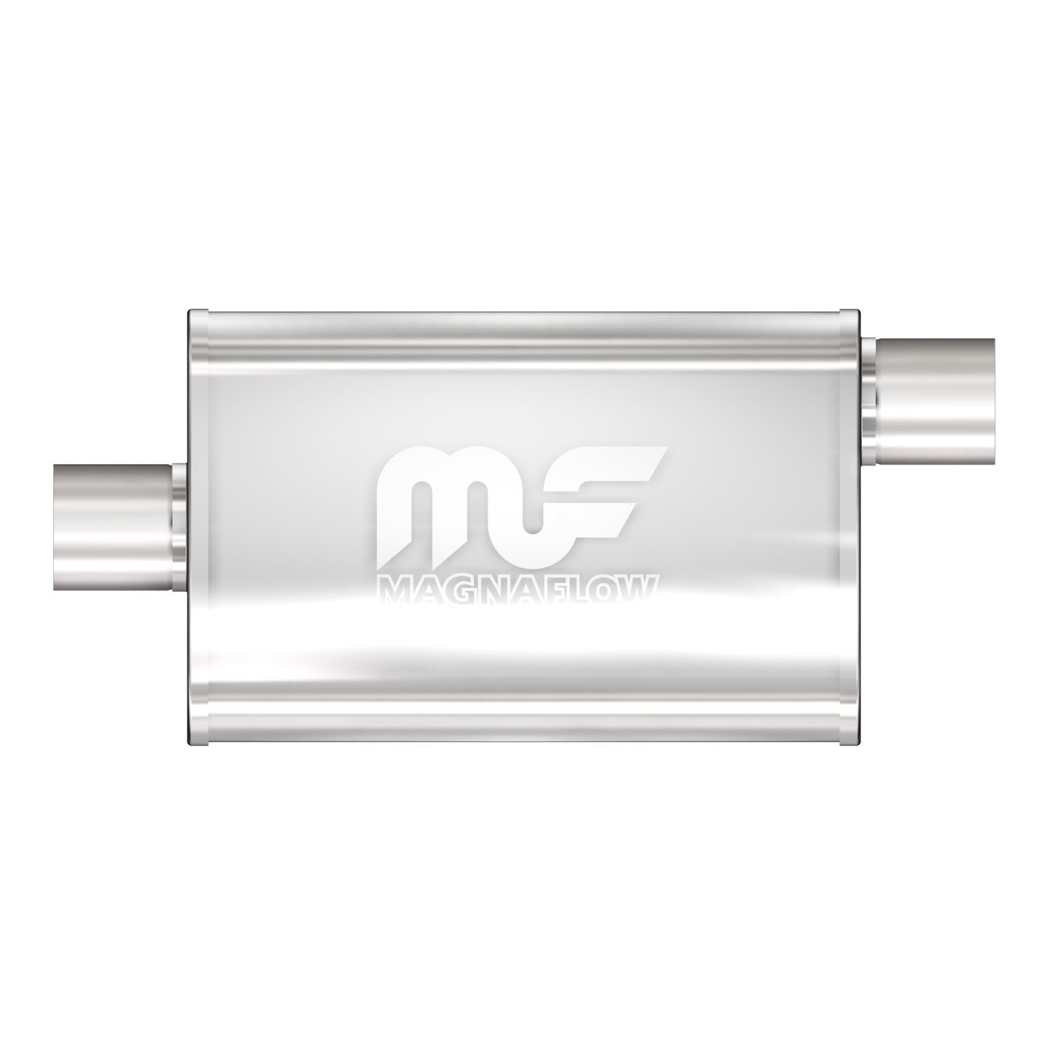 """Magnaflow 4x9 14/"""" Oval Straight Through Muffler 3/"""" In//Out Center//Offset 11229"""