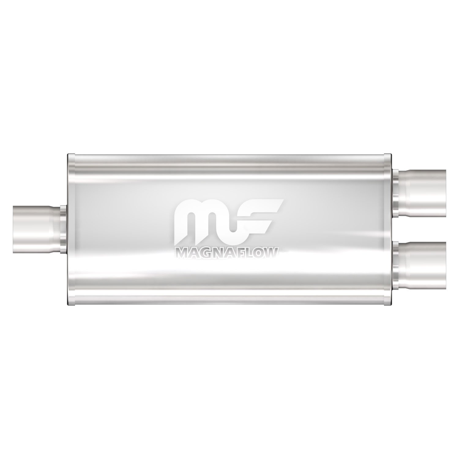 """MAGNAFLOW 12268 5/"""" x 8/"""" UNIVERSAL Oval SS Muffler Satin Finish 2.5/"""" In//Out"""
