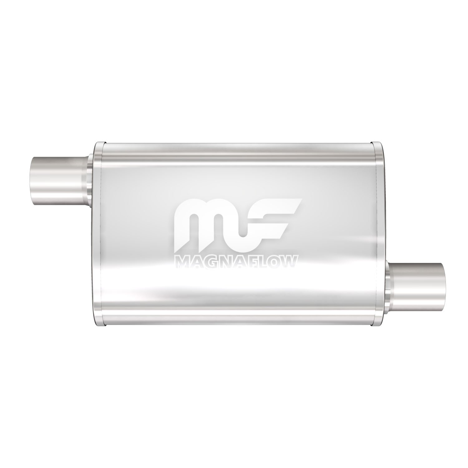 """MagnaFlow 11216 4/"""" x 9/"""" UNIVERSAL Oval SS Muffler Satin Finish 2.5/"""" In//Out"""
