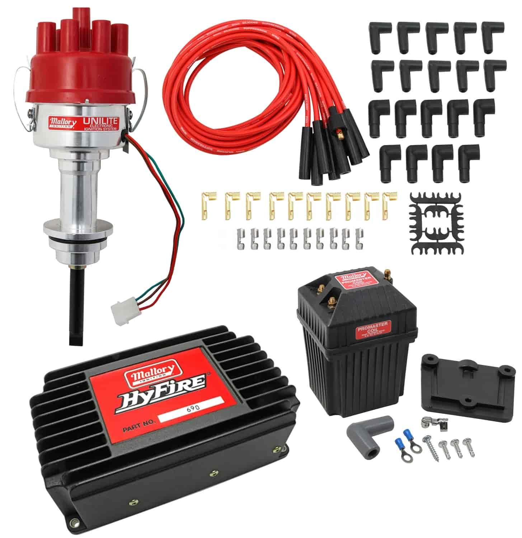 Wiring Jegs Electronic Distributor Data Diagram Chrysler 440 Mallory 3757801k Unilite Kit Mopar 413 426 Coil To