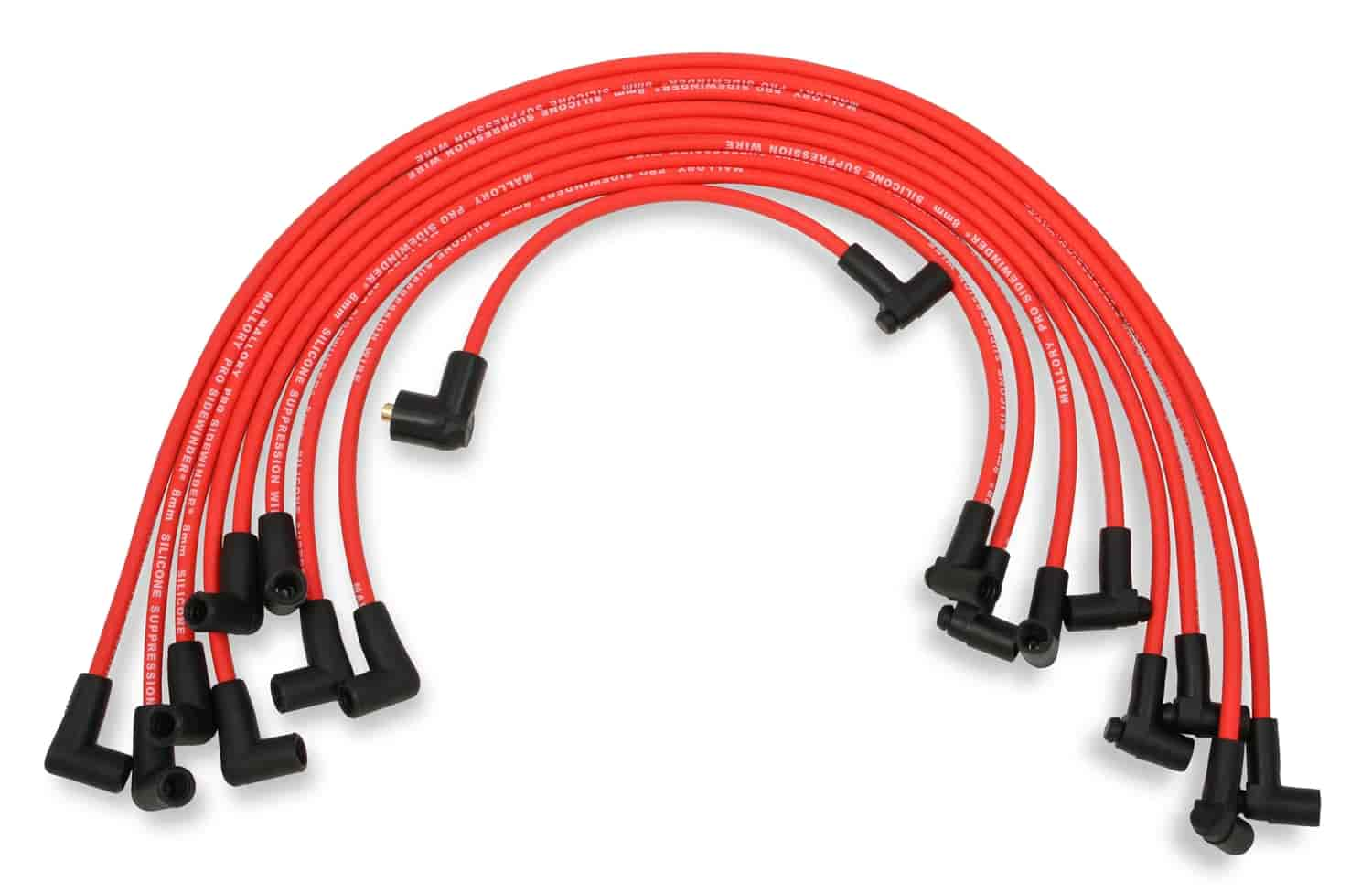 Mallory 600: 8mm Red Pro Wire Spark Plug Wire Set Small Block Chevy ...