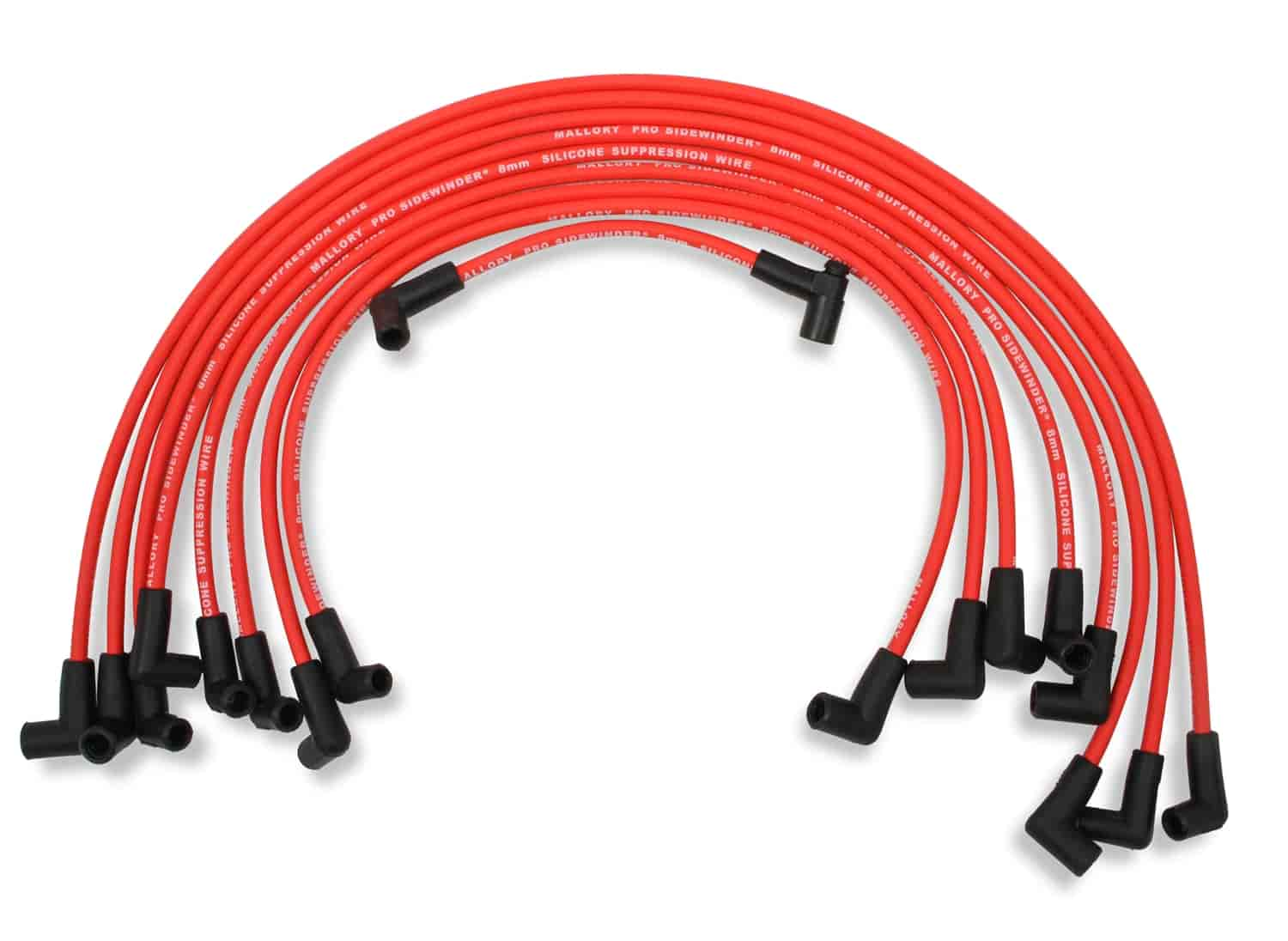 mallory 603 8mm red pro wire spark plug wire set 1985 up. Black Bedroom Furniture Sets. Home Design Ideas