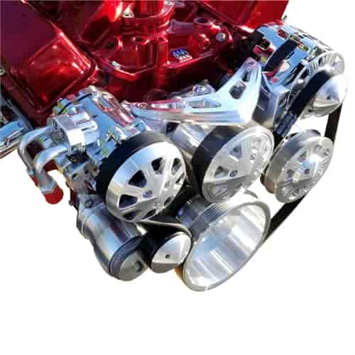 March Performance 20260 - March Small Block Chevy Ultra Drive Serpentine Kit