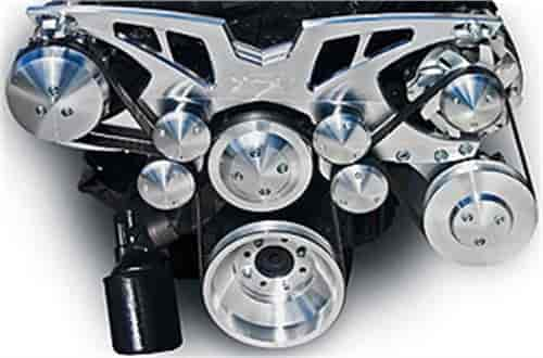 March Performance 21520 - March Cadillac 472-500CI Style Track Serpentine Kits