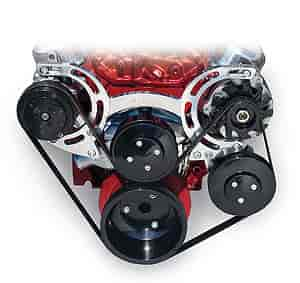 March Performance 21650-09 - March Sport Track Serpentine Kit SB-Chevy Short Water Pump