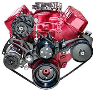 March Performance 23690-08 - March Sport Track Serpentine Kit Big Block Chevy Long Water Pump