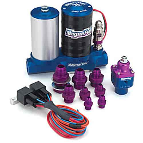MagnaFuel MP-4811 ProStar 500 Single 4-bbl Fuel Pump Kit | JEGS on bosch wiring, nos wiring, aeromotive wiring, mallory ignition wiring, auto meter wiring, denso wiring,