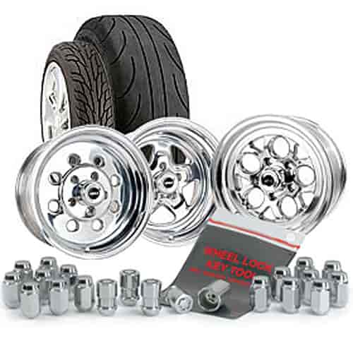 McGard 84532K1 - JEGS/Mickey Thompson/McGard Muscle Car Wheel & Tire Package